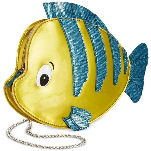 Danielle Nicole Little Mermaid Flounder Crossbody ($68) ❤ liked on Polyvore featuring bags, handbags, shoulder bags, yellow, danielle nicole purses, cross body, yellow purses, yellow shoulder bag and yellow crossbody