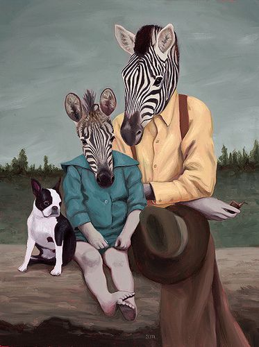 Father and Child by Anna Magruder #art