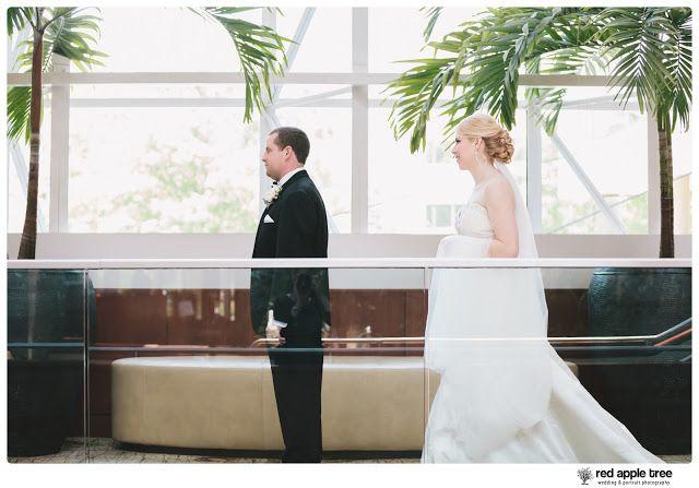 red apple tree photography: Downtown Hyatt Greenville SC Wedding with Allison + Zac