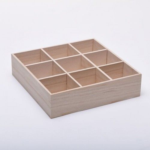 May work in a drawer for holding ink pads. 9 Compartment Wooden Craft or DIY Open Storage Trays WBM1657-59 - Wooden Storage & Sewing Boxes - Plain Wooden Boxes | The Wooden Box Mill
