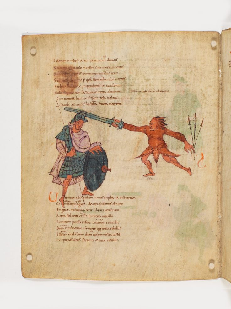 Bern, Burgerbibliothek, Cod. 264, Prudentius, Carmina, p.78, region of Lake Constance, around 900