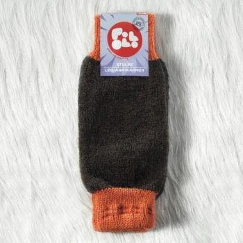Scaldamuscoli lana marroni Pololo: caldi, confortevoli, solo lana bio di alta qualità tedesca. Ottimi anche come scaldabraccia. Made in Germany by Pololo.