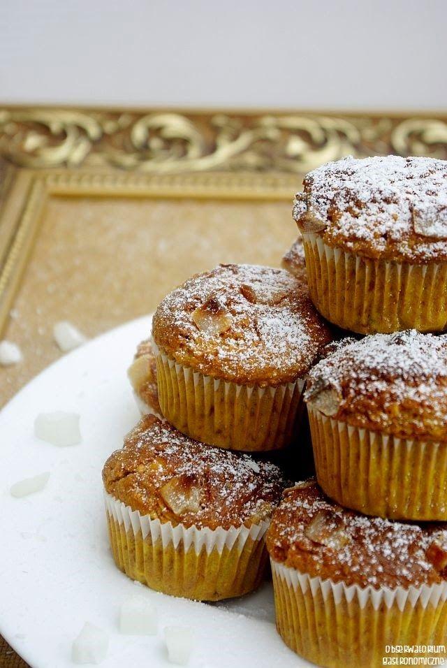 Śniadaniowe muffinki owsiane, kokosowo-bananowe