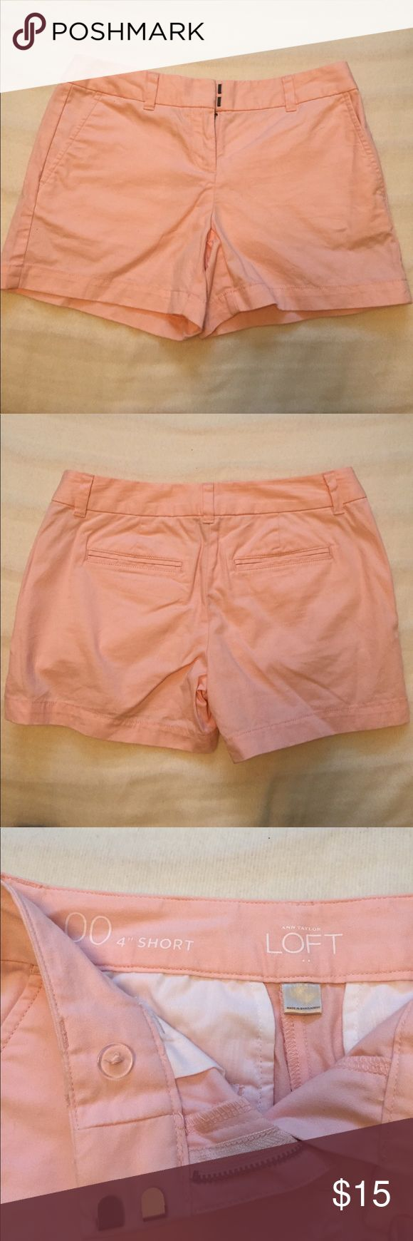 """LOFT 4"""" Light Pink Shorts LOFT light pink 4"""" inseam shorts. LOFT Shorts"""