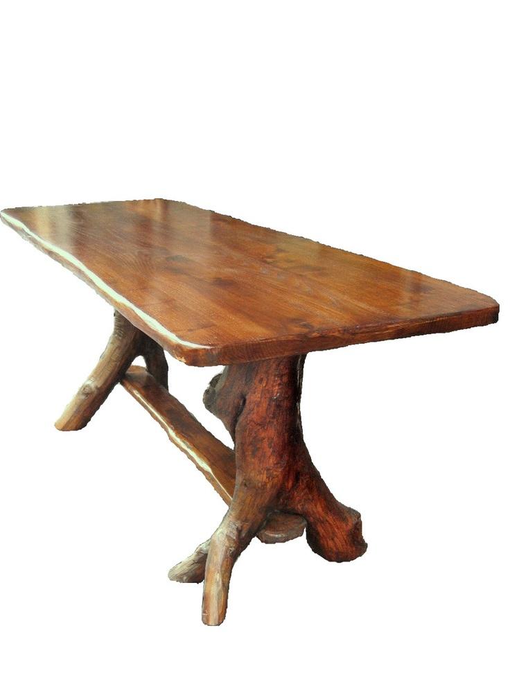 castagno tavolo rustico : Tavolo rustico-Testa di legno