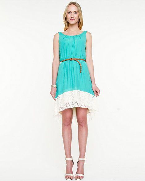 Ghost Gauze High-Low Dress
