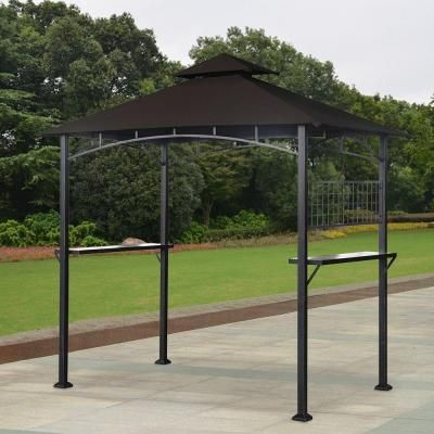 To Put Over The Fish Pond For Shade X 5 Ft 8 Steel Tile Fabric Grill At Home Depot