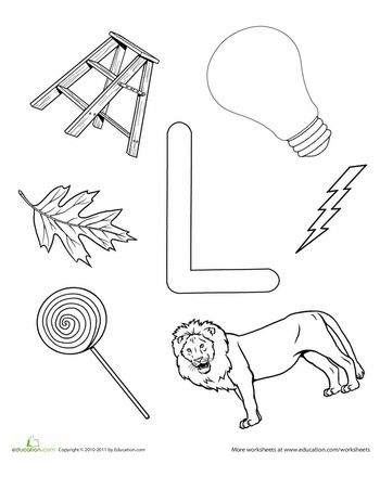 Letter L Coloring Pages Preschool : Best 25 letter l worksheets ideas on pinterest pre writing