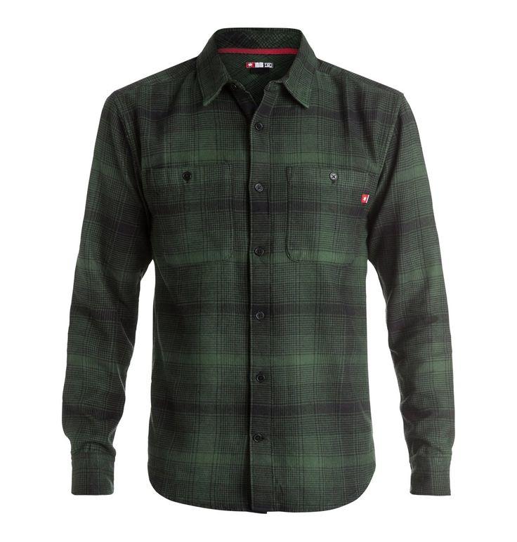dcshoes, Venetian Hombre Flannel - Camisa De Manga Larga, FOREST NIGHT-PLAID_1 (csn1)