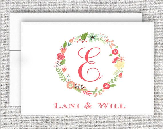 1000 images about Monogram Thank You Notecards – Monogram Wedding Thank You Cards