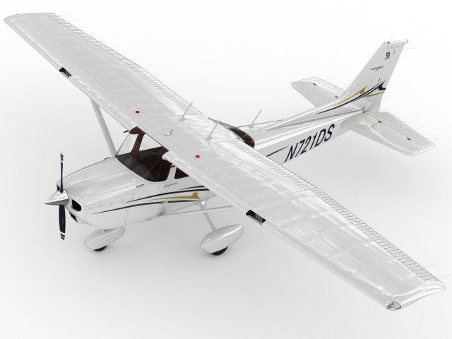 3D Model Cessna 172 Skyhawk c4d, obj, 3ds, fbx, ma, lwo 75137