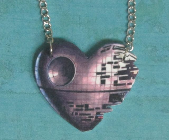 Star Wars Death Star Heart Necklace