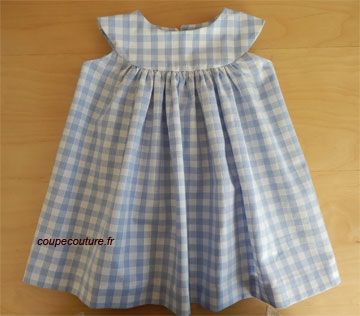 Robe à empiècement rond d'Eléonor; picture tutorial and pattern; there are some more cute littles dresses with pattern;