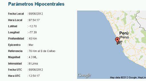 Sismo en Lima: temblor alcanzó los 4,3 grados esta mañana