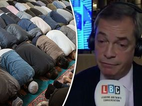 NIGEL Farage was left stunned after being told Islam is rapidly taking over Britain.