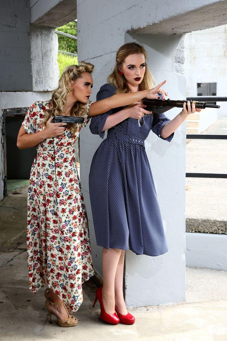 Recreating 1940's WW2 French resistance look - fashion WW2 retro vintage model war