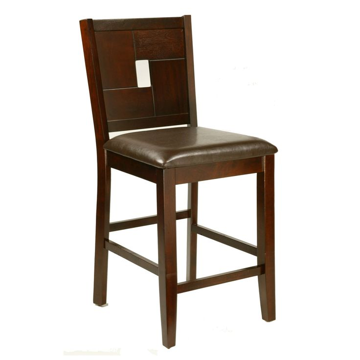 Alpine Furniture 552-02 Lakeport Counter Height Pub Chairs (Set of 2) | ATG Stores