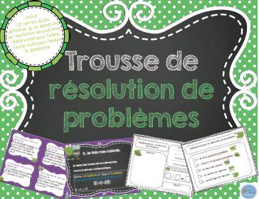 French maths word problems kitTrousse de résolution de problèmes