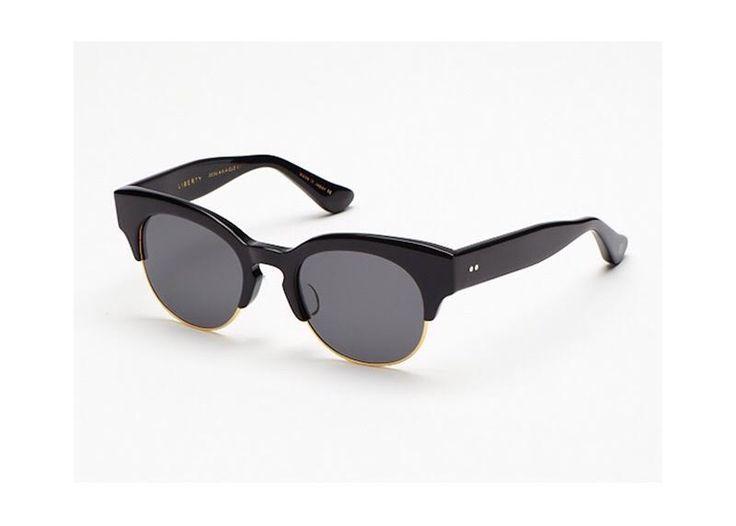 Dita Liberty round women's black sunglasses on sale.