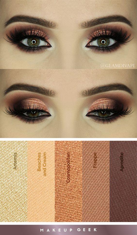Crea looks de envidia con Makeup Geek.  #Otoño #Sombras #Ojos #Looks