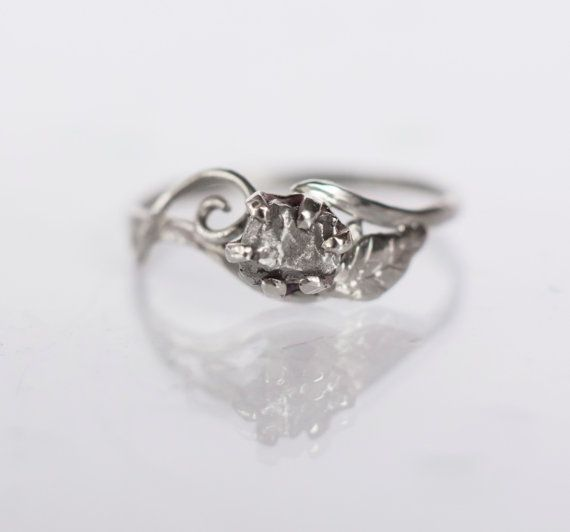 Hey, I found this really awesome Etsy listing at https://www.etsy.com/listing/251566187/meteorite-engagement-ring-with-14k