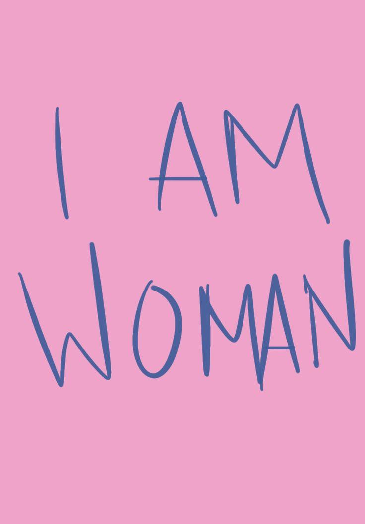 always a woman.