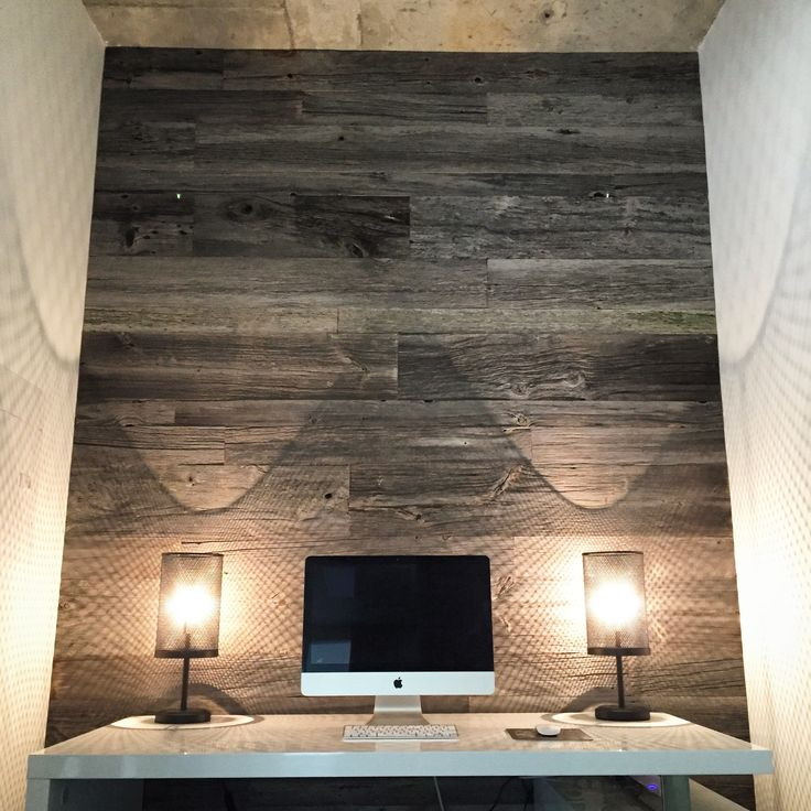 Grey barn board feature wall.  visit jeffmackdesigns.com