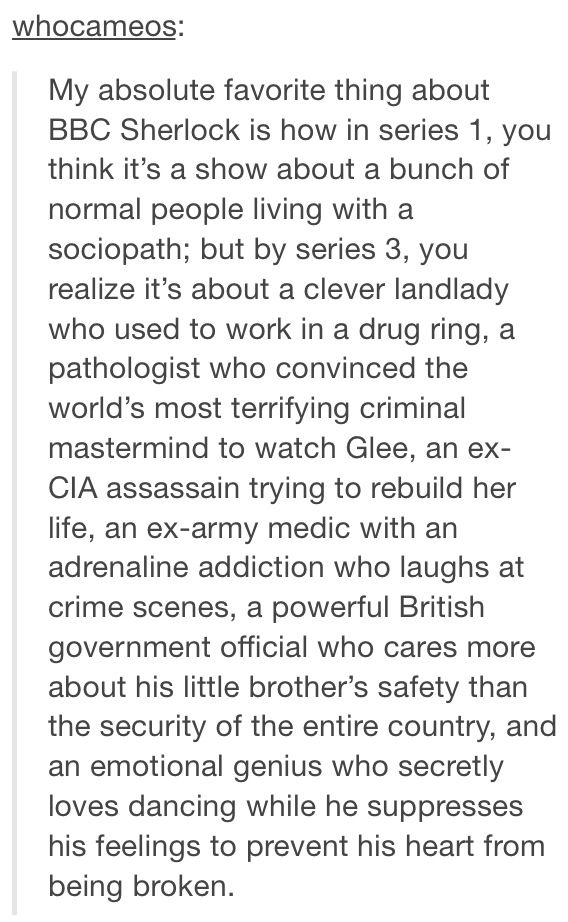 What Sherlock is REALLY about -- Not just a high-functioning sociopath