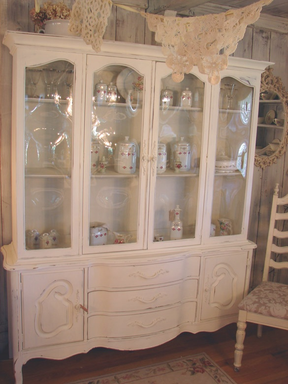 Shabby Distressed French China Cabinet From Www