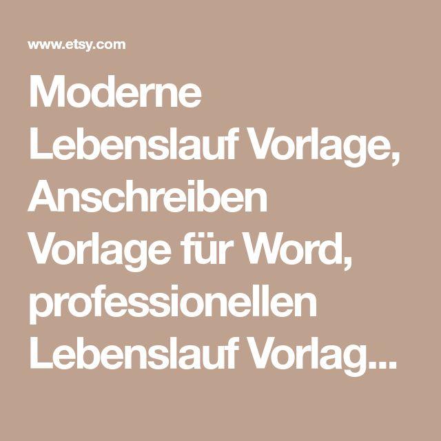 moderne lebenslauf vorlage anschreiben vorlage fr word professionellen lebenslauf vorlagendesign kreative lebenslauf - Lebenslauf Anschreiben