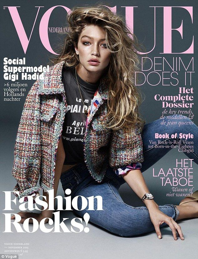 Gigi Hadid graces the cover of Vogue Netherlands to celebrate her Dutch heritage but gets a little saucy and ditches her top in the name of style | Daily Mail Online