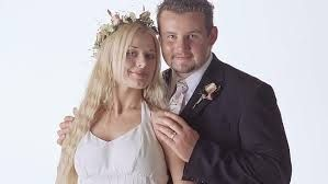 Short-lived happiness ... tragic Dee (Madeleine West ) and Toadie (Ryan Moloney) on their wedding day in Neighbours.