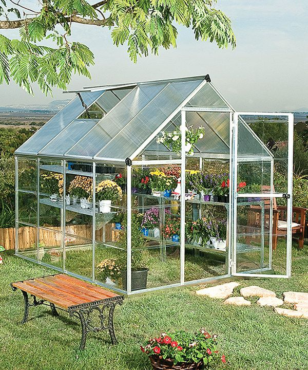 Look at this Silver 8' x 6' Greenhouse on #zulily today!