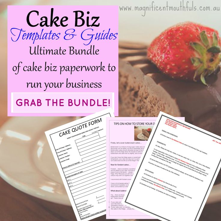 The Ultimate Bundle of cake biz paperwork to run your business!