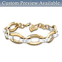 Joined By Love Personalized Diamond Bracelet