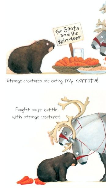 """""""Fought major battle with strange creatures"""" <3 Diary of a *Christmas* Wombat by Jackie French"""
