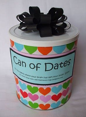 can full of date ideas for the newlywedsGift Ideas, Unique Wedding, Date Ideas, Wedding Shower Gift, Date Nights, Dates Night, Bridal Shower Gift, Movie Nights, Wedding Gifts