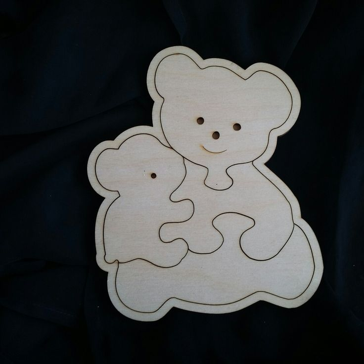Maple wood Teddy puzzle