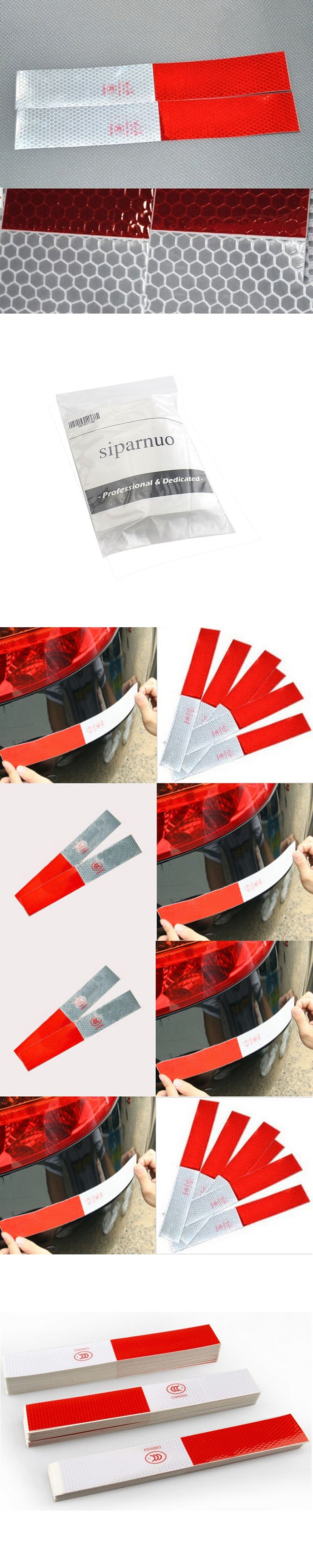 siparnuo 20pcs/lot Car Sticker Car Warning Stickers Reflective Safety Stickers Auto Decals 30x5cm