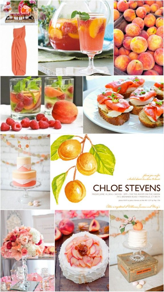 Georgia Peaches Bridal Shower Inspiration Board
