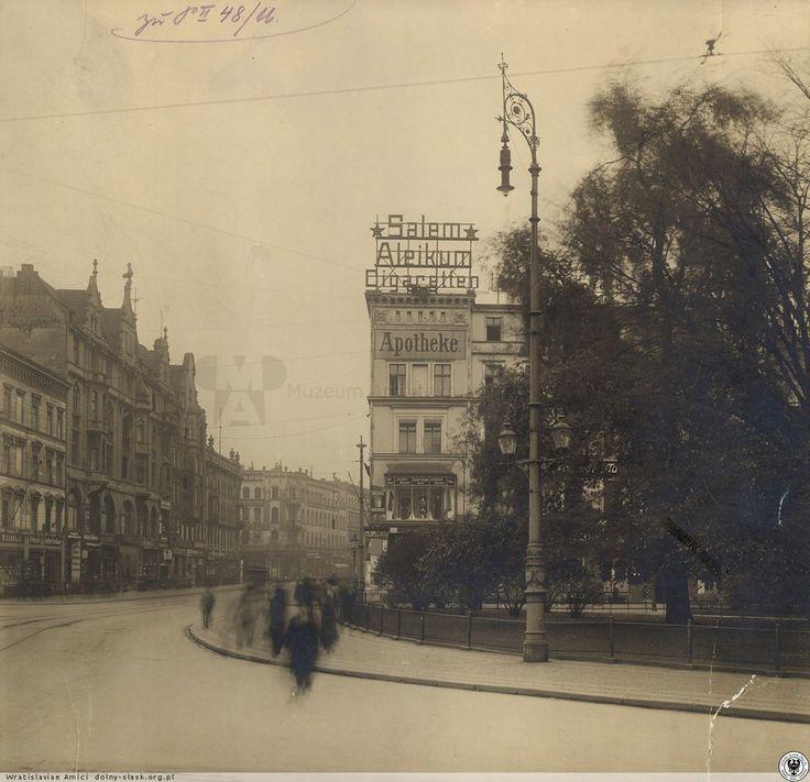 Ul. Świdnicka - widok z placu Kościuszki w kierunku południowym. Rok 1925