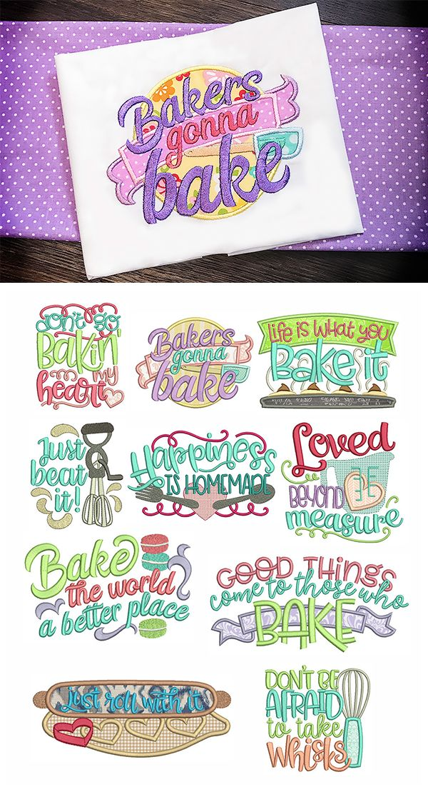 A baker's gotta bake! 10 super cute baking themed word art designs in 4 sizes! Bakers Word Art design set available for instant download at designsbyjuju.com