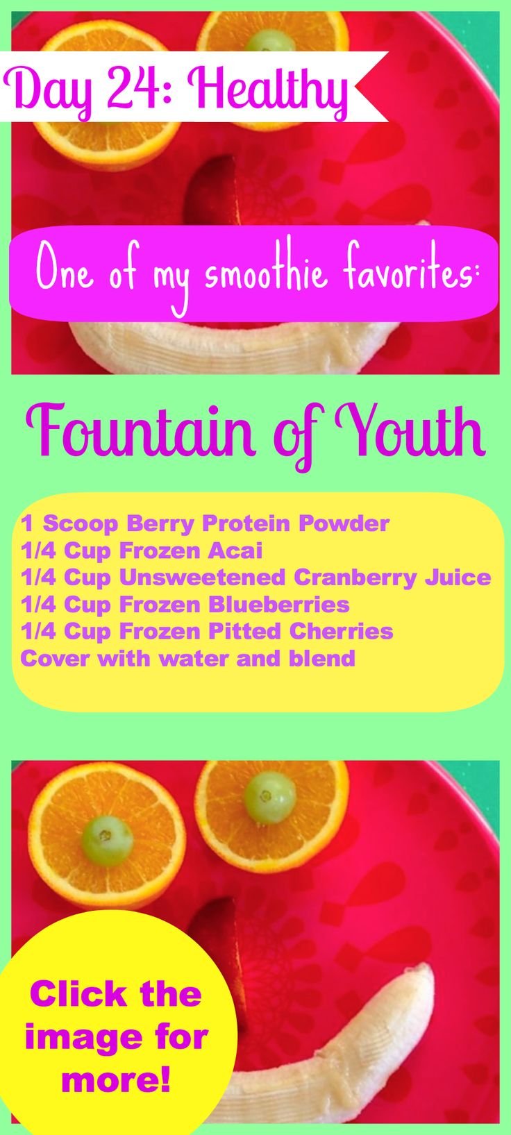 Whole Food Smoothie Recipe- here is one of my favorites! Click the image for more!