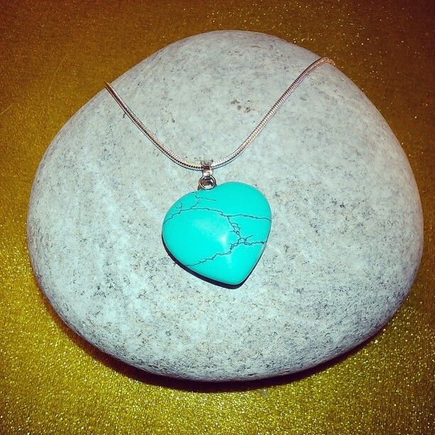 Silver + SemiPrecious Heart PENTANT Collection - TURQUOISE