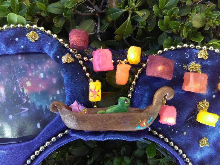 Light up Tangled lantern scene Mouse ears/Rapunzel ears/Pascal