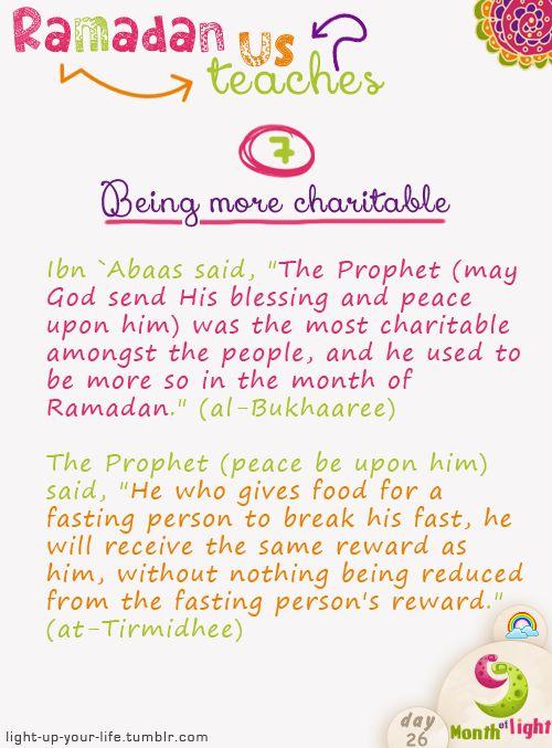 Month Of Light Ramadan teaches us! Lesson 7