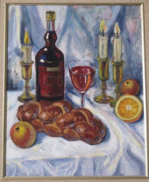 Лев Разумовский(1926-2006) - живопись Натюрморт с халой