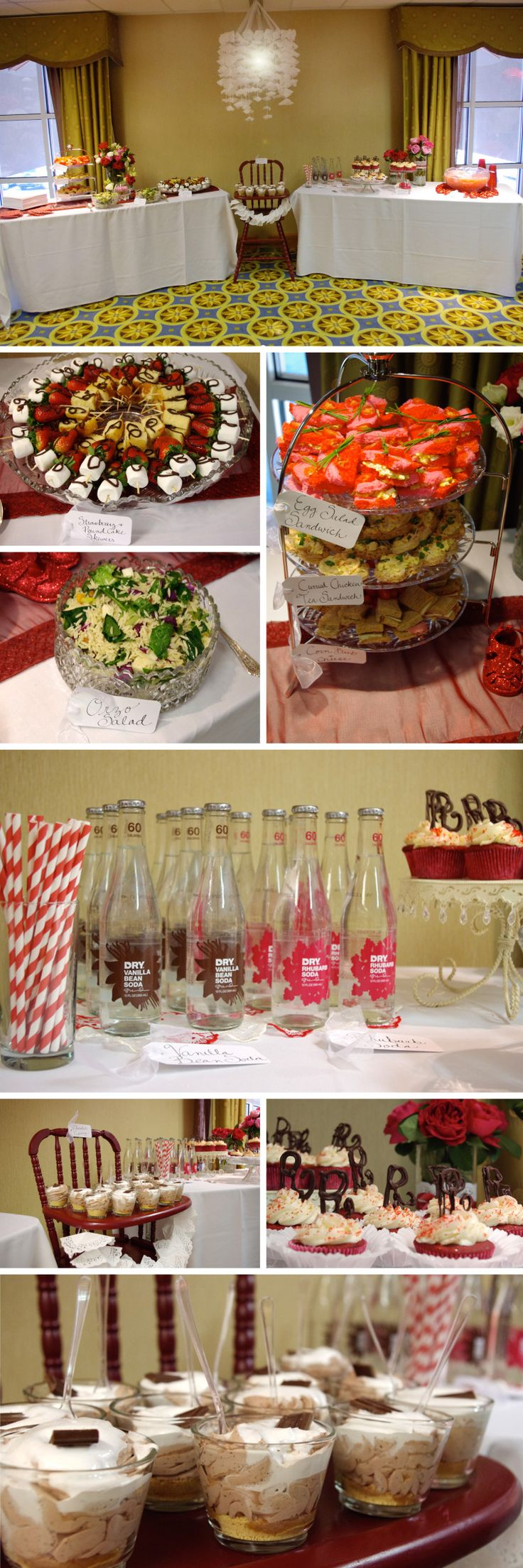 Baby Shower Food Tablescape - Fruit marshmallow and poundcake skewers