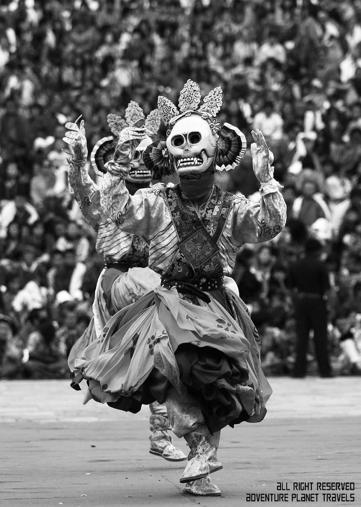 The dance of the lord of cremation showcased in every  festival events in Bhutan. Learn more about Bhutan festival dance at www.bhutanesia.com