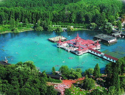 I'm creating one of these in CA! This looks amazing!!! Danubius Health Spa Resort Hévíz - Lake Hévíz - Hungary